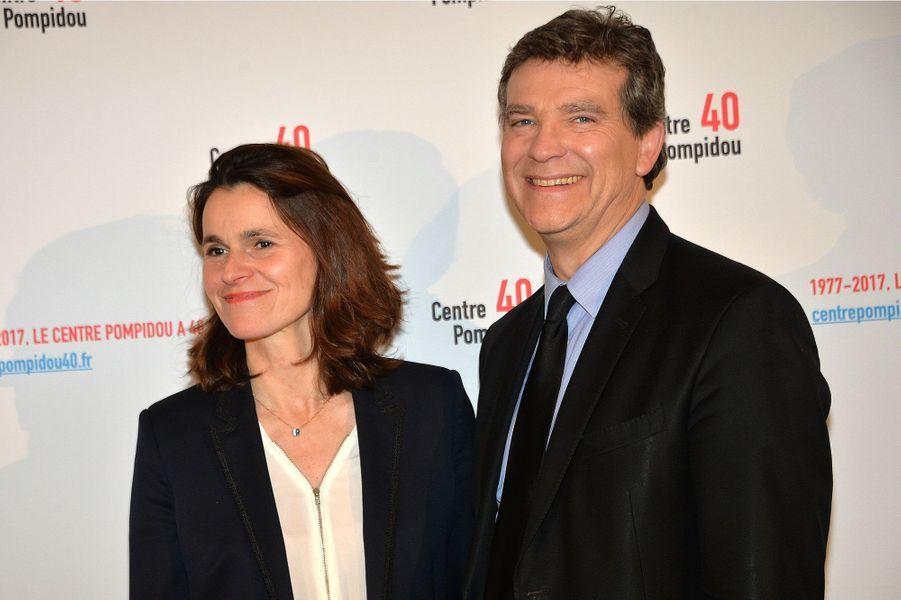 Aurelie Filippetti et Arnaud Montebourg au centre Pompidou à Paris, en janvier 2017.