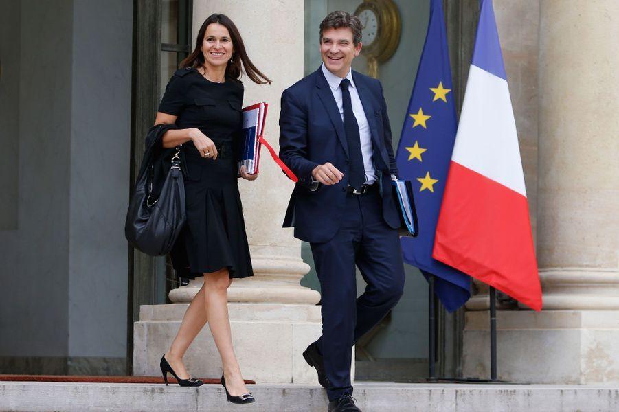 Aurelie Filippetti et Arnaud Montebourg, alors ministre du même gouvernement, à l'Elysée, en septembre 2013.