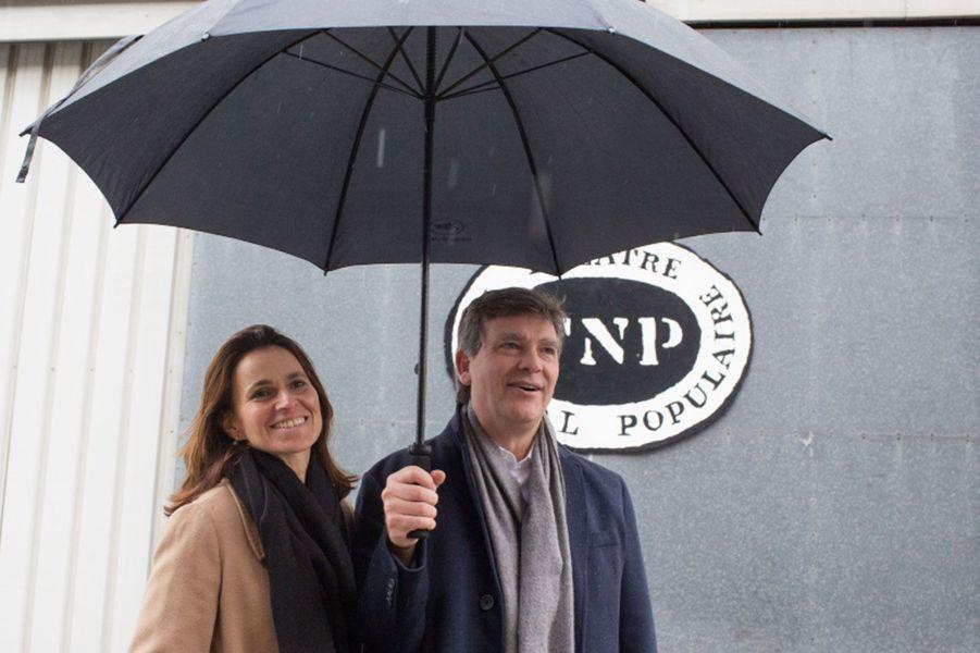 Le candidat à la primaire et sa compagne lors d'une visite à Villeurbanne, dans la banlieue lyonnaise, en novembre 2016.