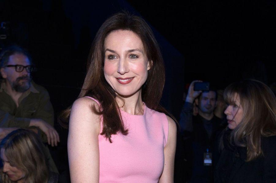 Elsa Zylberstein, en février 2014 pour la fashion week à Paris.