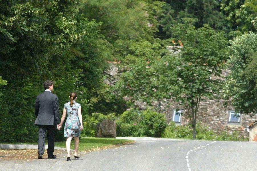 Arnaud Montebourg et Hortensede Labriffe, jour du second tour des législatives 2007.