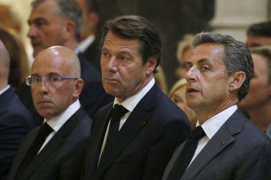 Christian Estrosi et Nicolas Sarkozy ont assisté, vendredi, à la messe organisée en la cathédrale Saint-Réparate de Nice.
