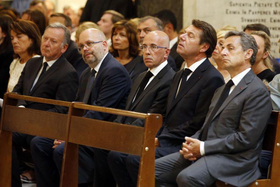 Eric Ciotti, Christian Estrosi et Nicolas Sarkozy ont assisté, vendredi, à la messe organisée en la cathédrale Saint-Réparate de Nice.