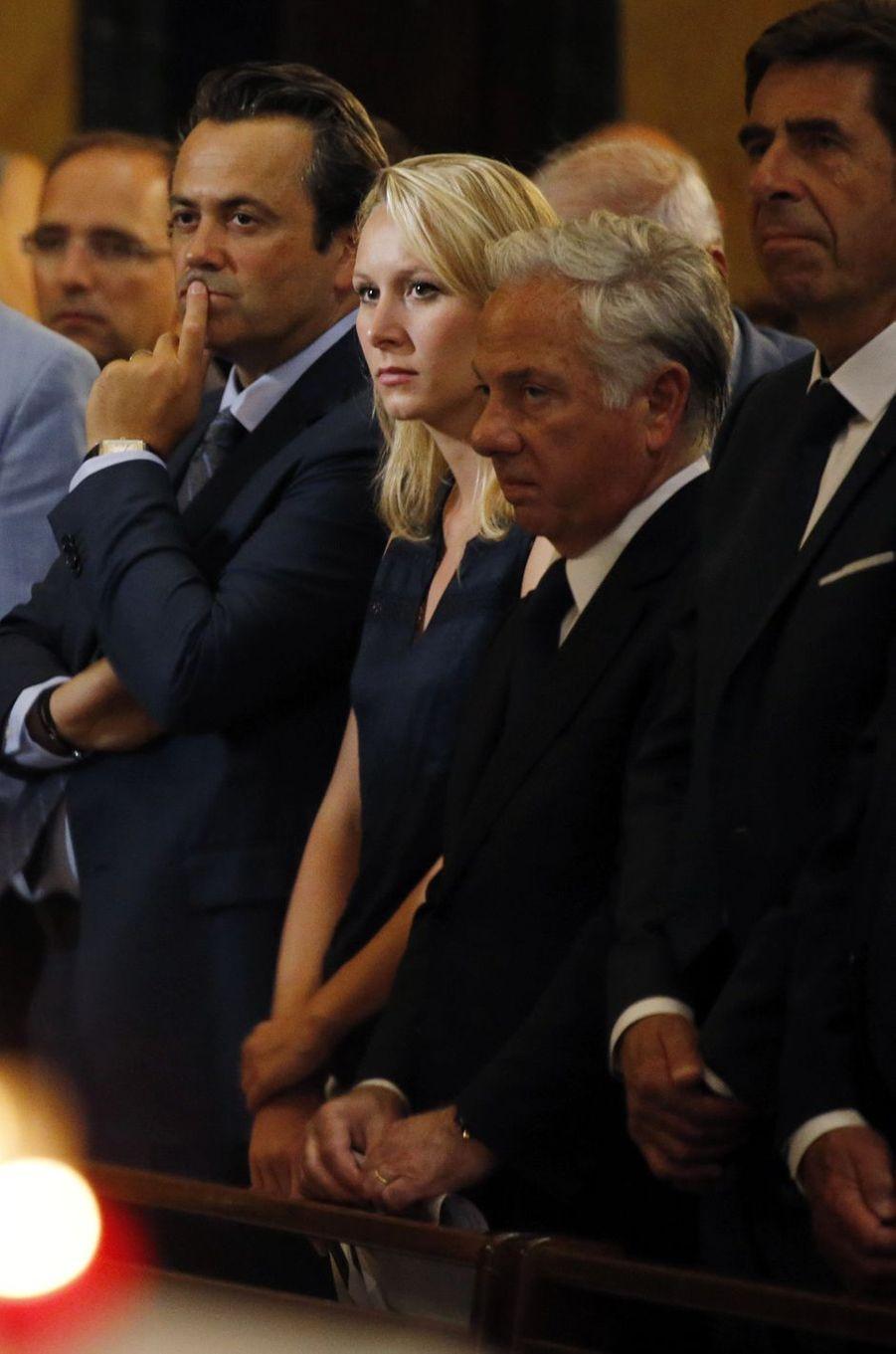 Marion Maréchal-Le Pen a assisté, vendredi, à la messe organisée en la cathédrale Saint-Réparate de Nice.