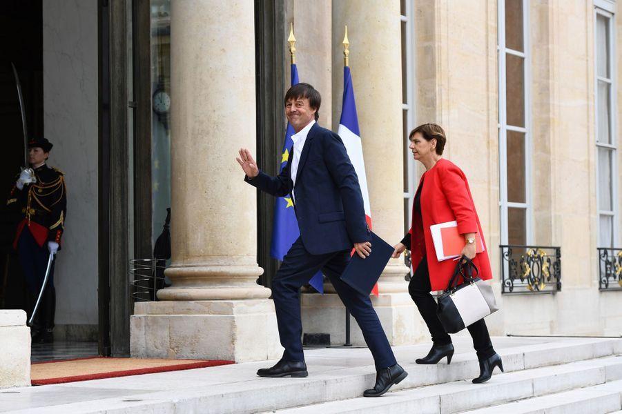 Nicolas Hulot à son arrivée à l'Elysée.