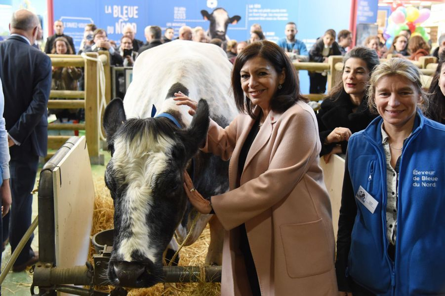 La maire de Paris, Anne Hidalgo, au salon lundi.