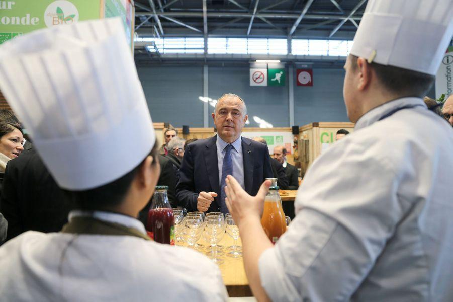 Didier Guillaume, le ministre de l'Agriculture, mardi Porte de Versailles.