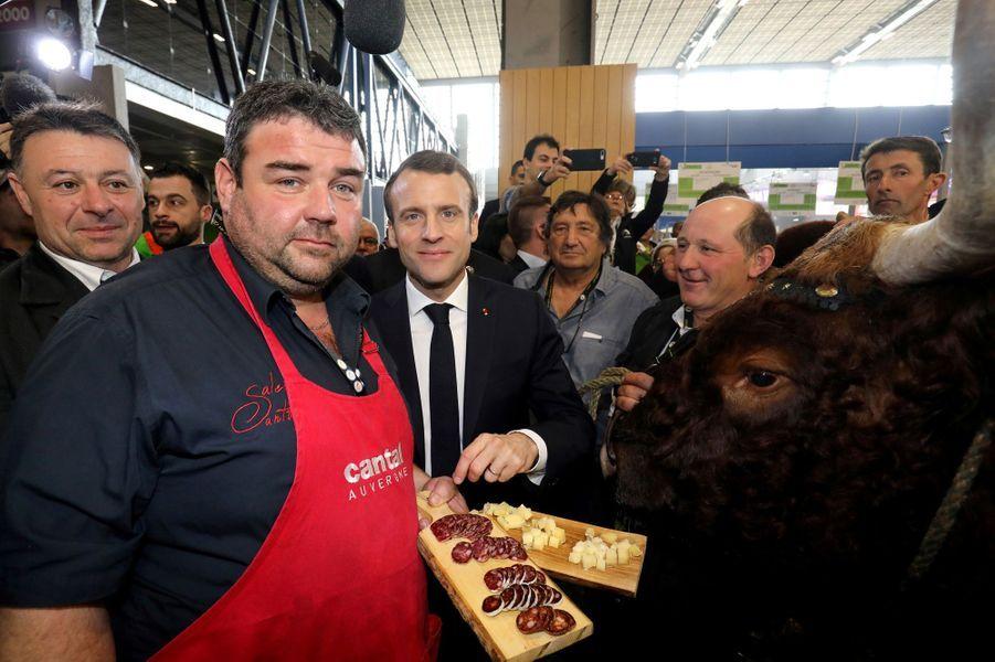 Emmanuel Macron samedi au salon de l'Agriculture.