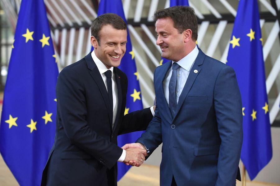 Emmanuel Macron et Xavier Bettel.