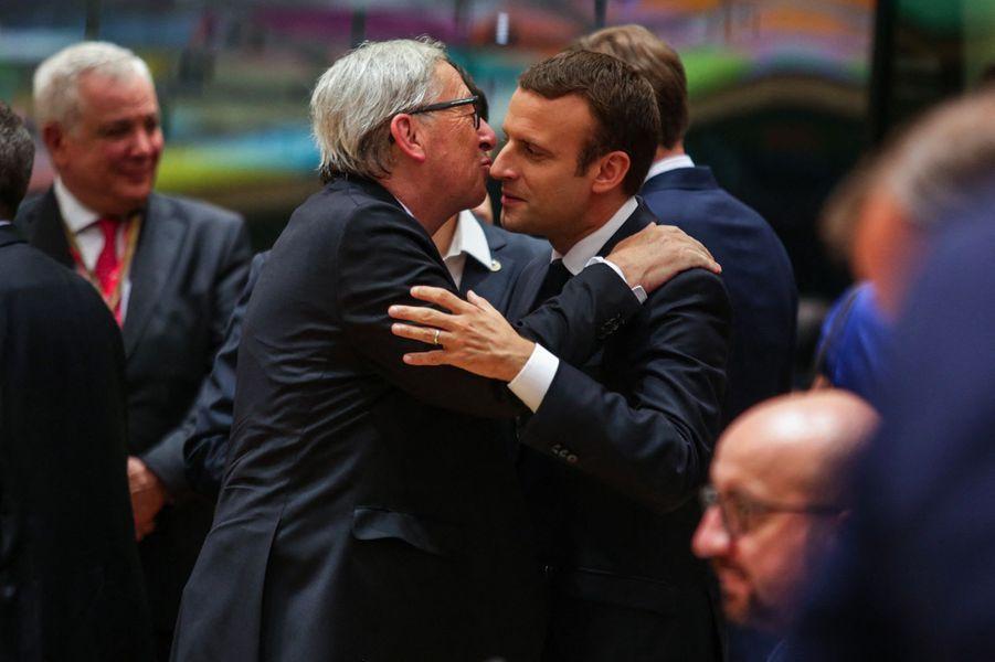 Emmanuel Macron et Jean-Claude Juncker.