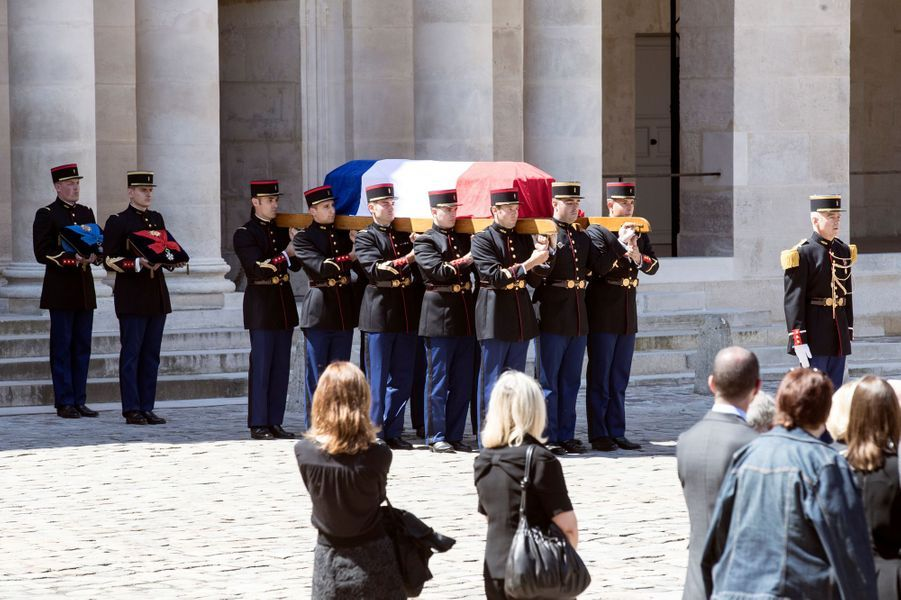 L'hommage national rendu à Michel Rocard aux Invalides, le 7 juillet 2016.