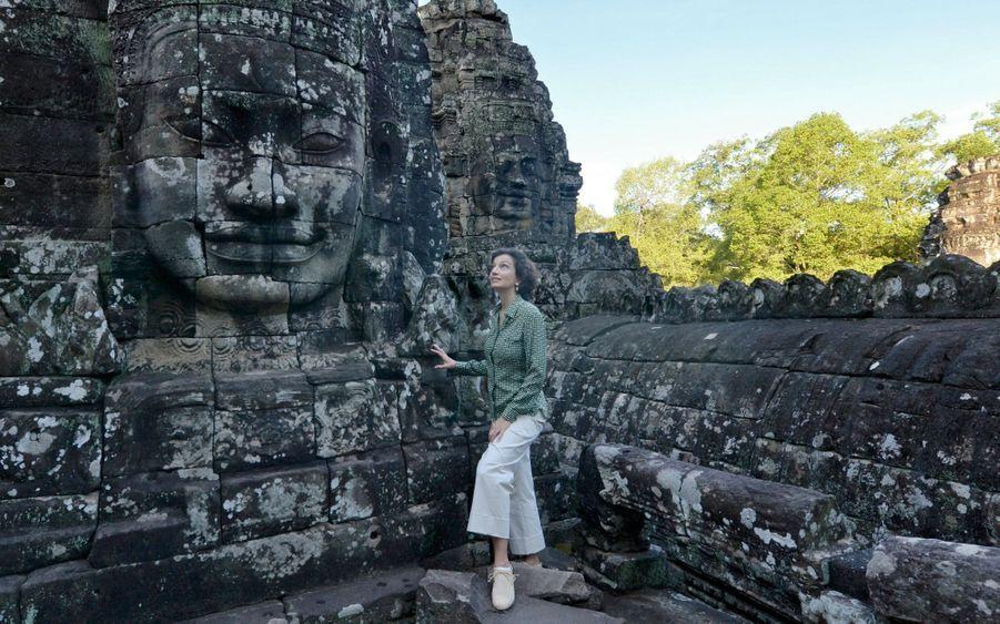 Au temple Bayon, à Angkor, au Cambodge, le mercredi 5 décembre.