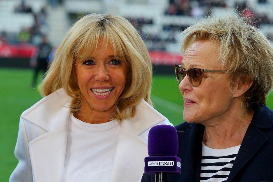 Brigitte Macron et Muriel Robin à Reims, le 20 mars 2019.