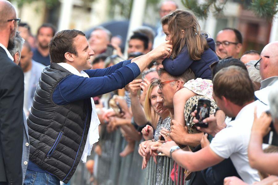 Emmanuel Macron samedi au Touquet.