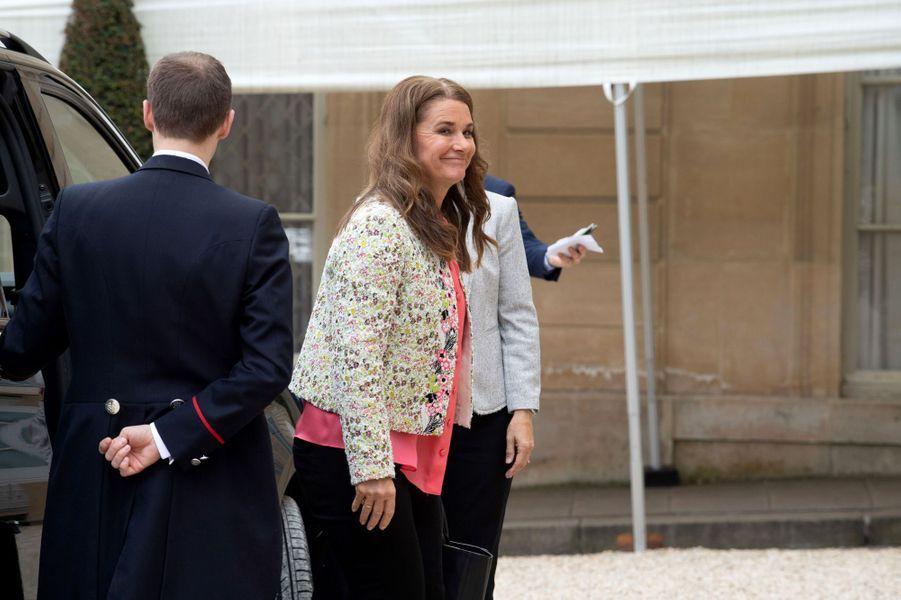Melinda Gates reçu à l'Elysée.
