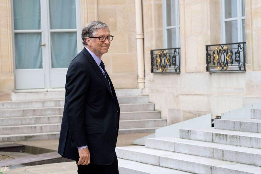 Bill Gates reçu à l'Elysée.