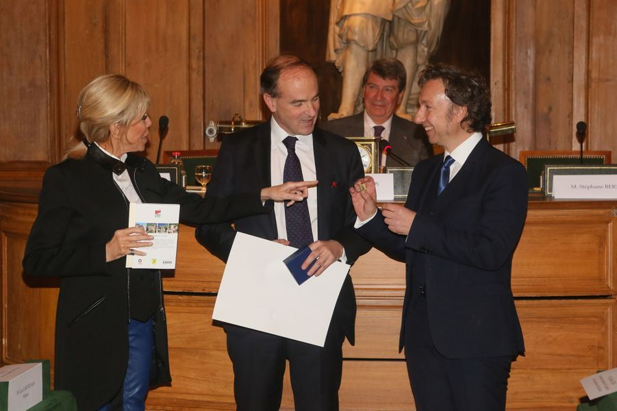 Brigitte Macron, Guillaume d'Andlau (Prix Patrimoine 2017 pour «Le chemin des châteaux forts d'Alsace») et Stéphane Bern.