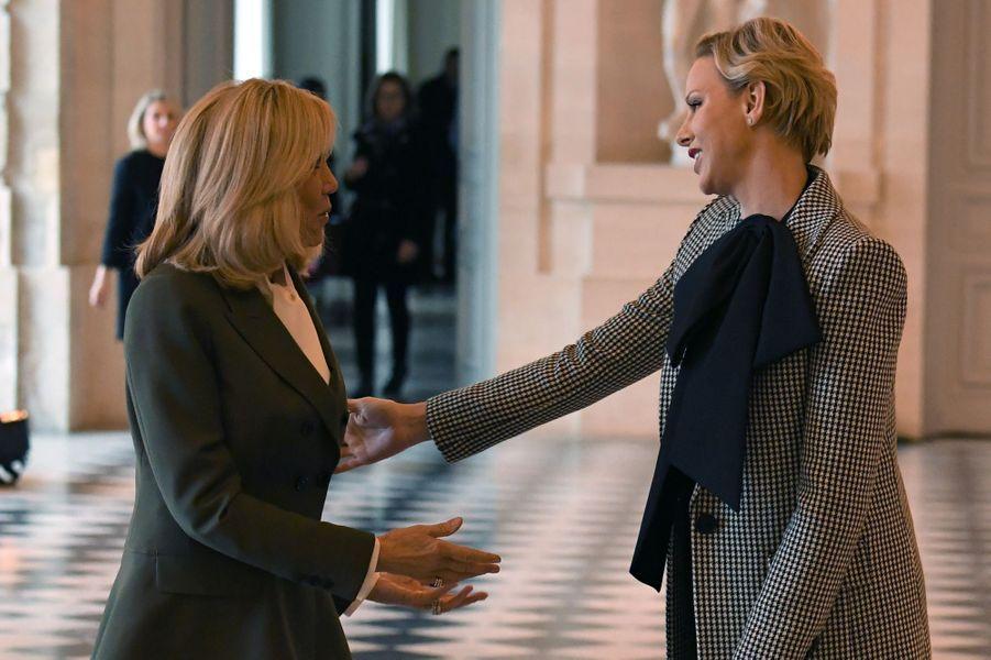 Brigitte Macron et Charlène de Monaco.