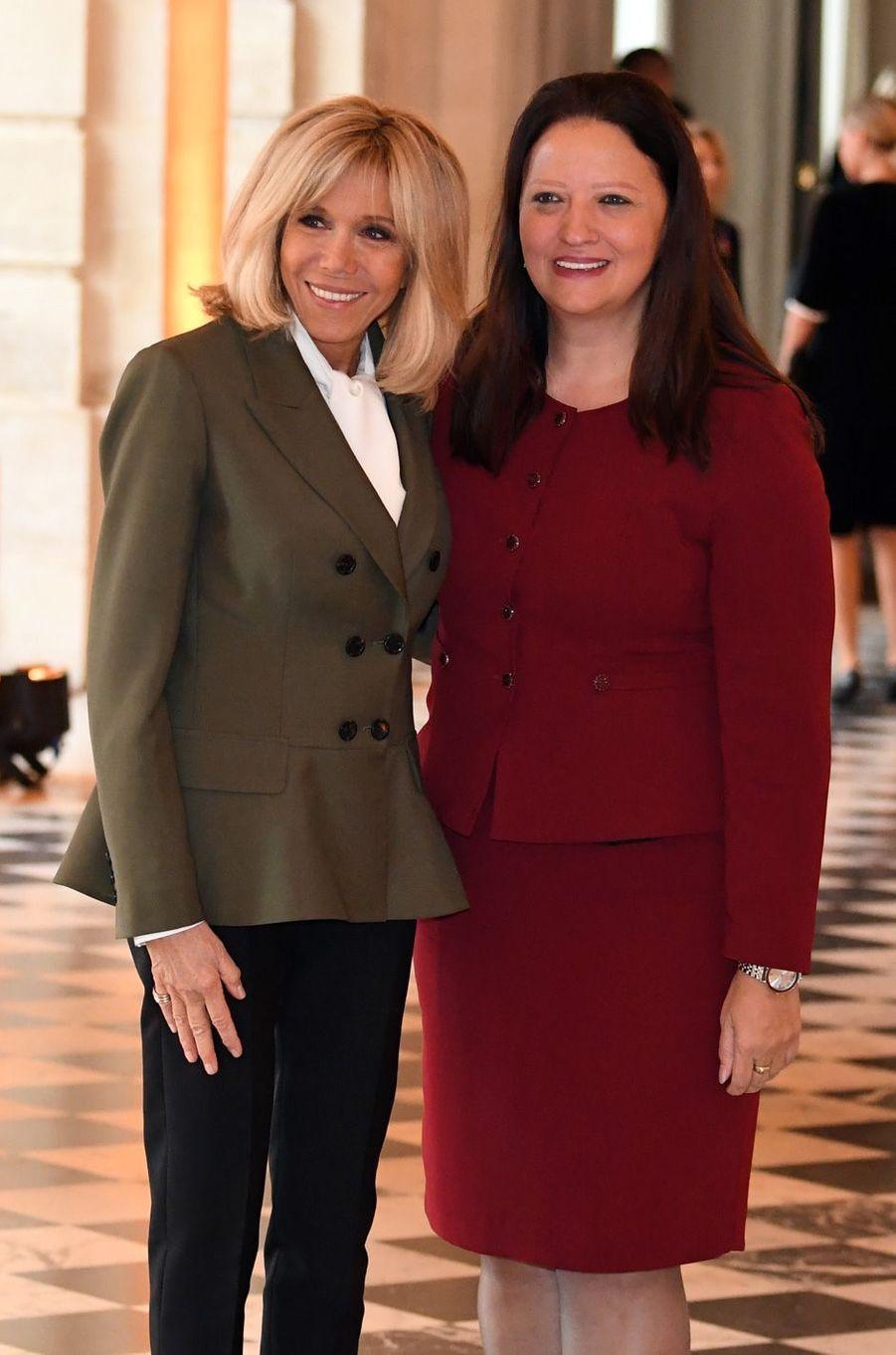 Brigitte Macron et Maja Ivanova, Première dame de la Macédoine.