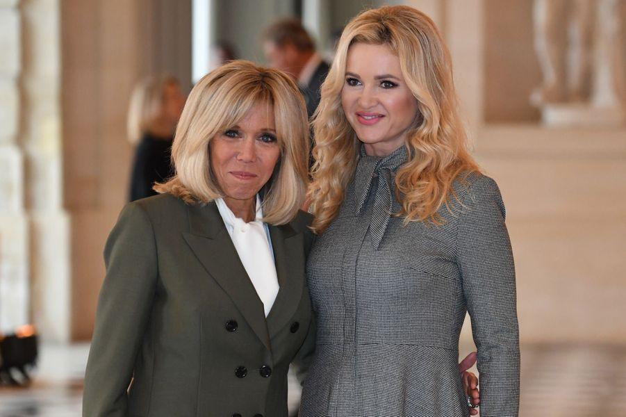 A Versailles avecMonika Babisova, femme duPremier ministre tchèqueAndrej Babis.