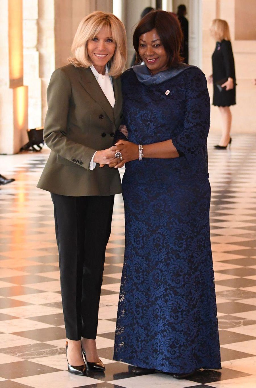 Brigitte Macron etDjene Kaba,épouse du Président guinéen, Alpha Condé.
