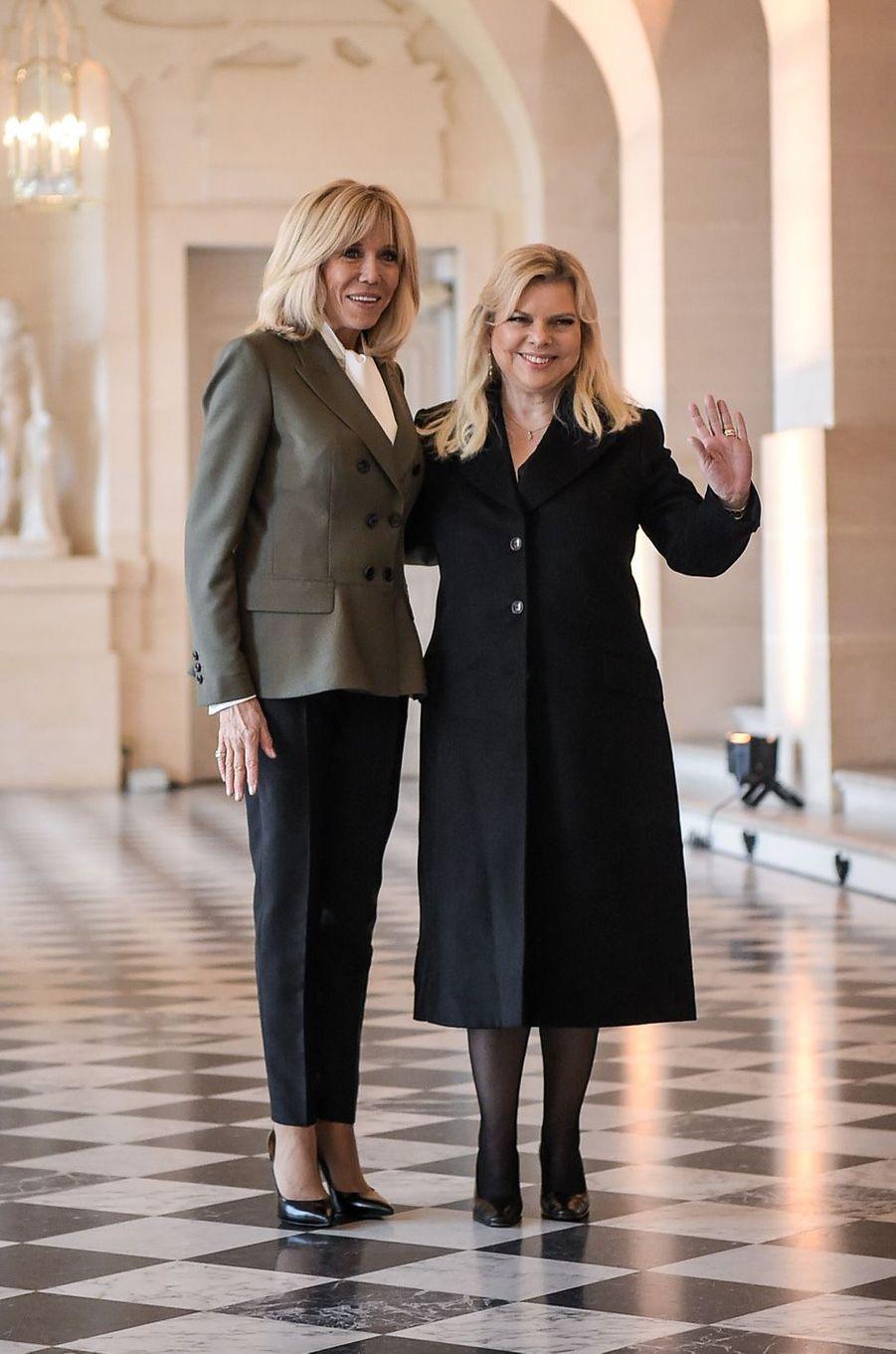 AvecSara Netanyahu, épouse du Premier ministre israélien Benjamin Netanyahu.