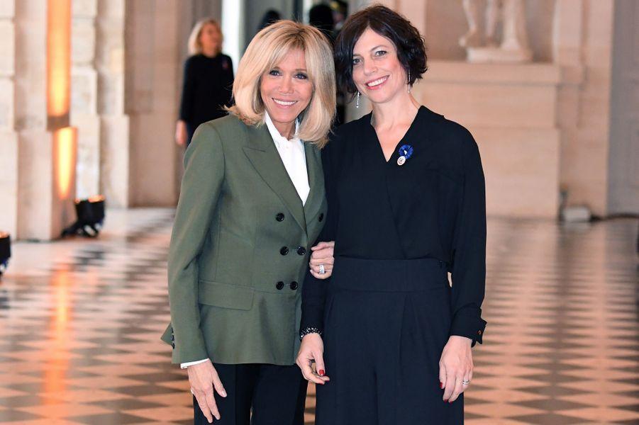 Avec Muriel Zeender Berset, épouse d'Alain Berset Président de la Confédération suisse.