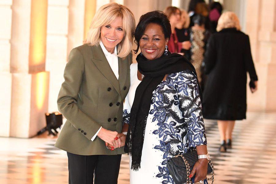Brigitte Macron et la Première dame congolaise Antoinette Sassou Nguesso.
