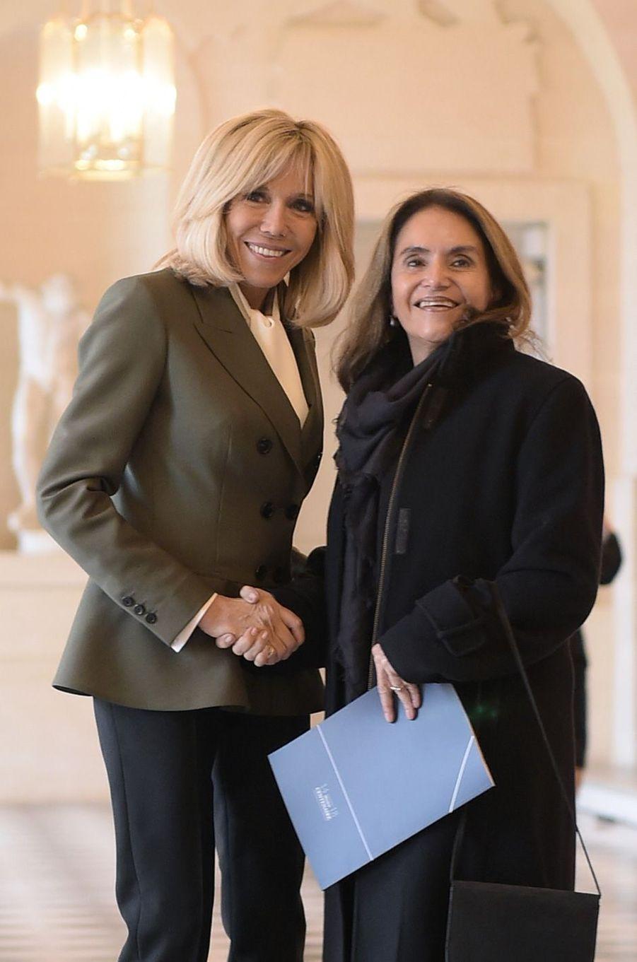 Brigitte Macron etLulu Quintana de Gurria, femme d'AngelGurría, secrétaire général de l'OCDE.