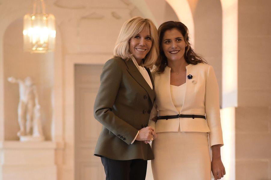 Retrouvailles entre Brigitte Macron etBetty Batziana, Première dame grecque.