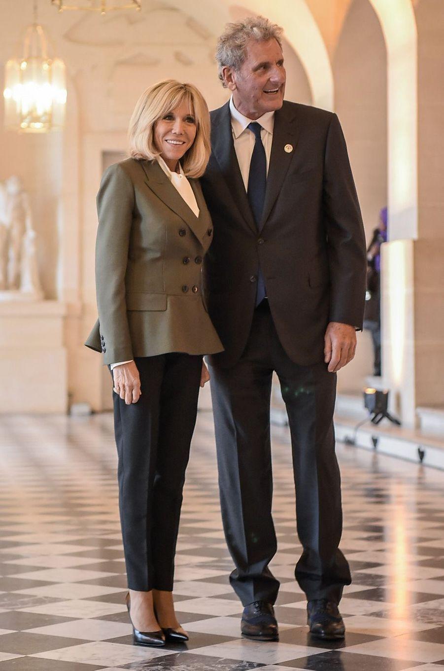 Brigitte Macron etXavier Giocanti, époux de l'ex-ministre Christine Lagarde, directrice générale du FMI.
