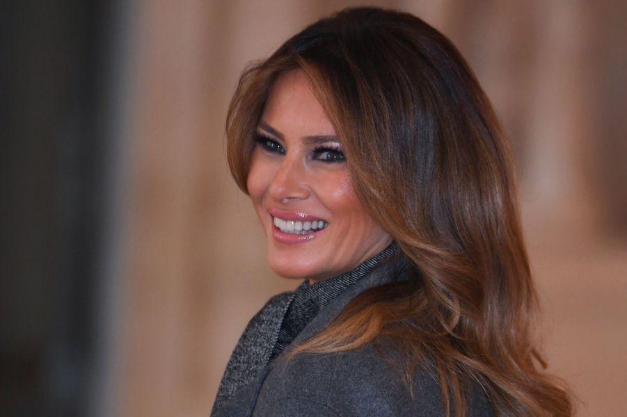 Melania Trump à Versailles dimanche midi.