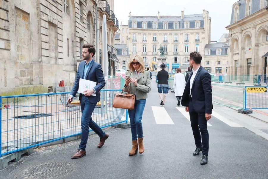 Brigitte Macron jeudi à Bordeaux.