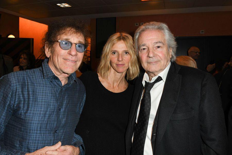 Alain Souchon, Sandrine Kiberlain et Pierre Arditi, lundi soir à l'Olympia.