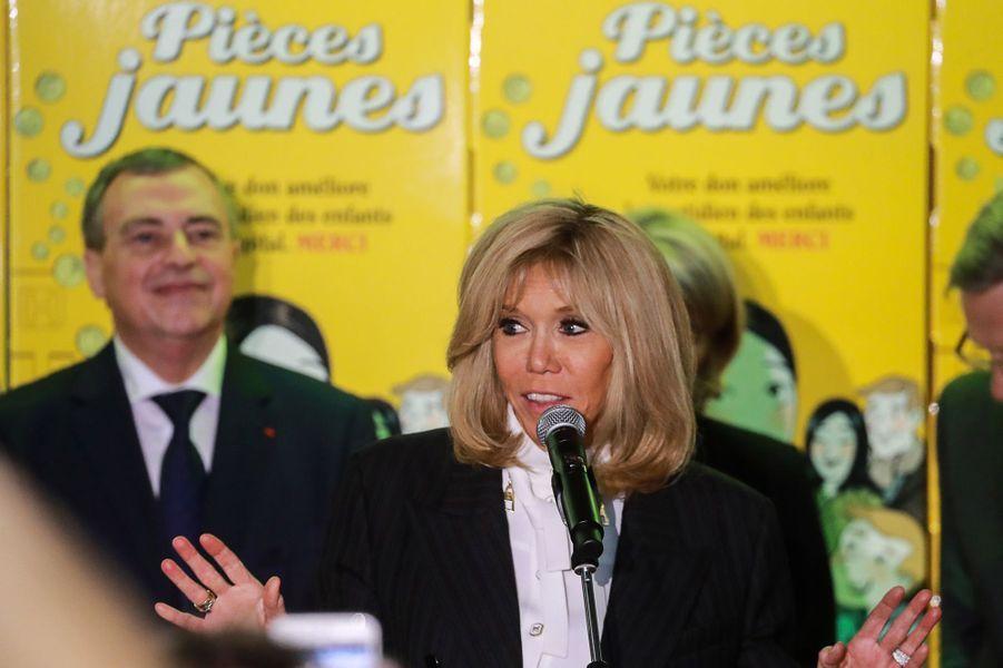 Brigitte Macron lors du lancement de l'opération Pièces Jaunes 2020.