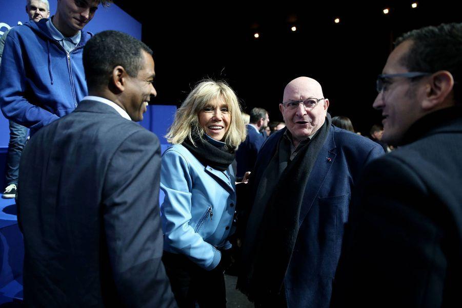 Brigitte Macron lors du meeting de Lille.