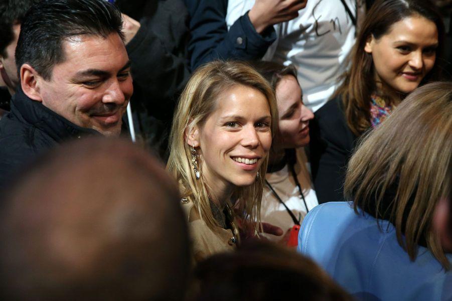 Tiphaine Auzière, la belle-fille d'Emmanuel Macron, lors dumeeting au Zénith de Lille.