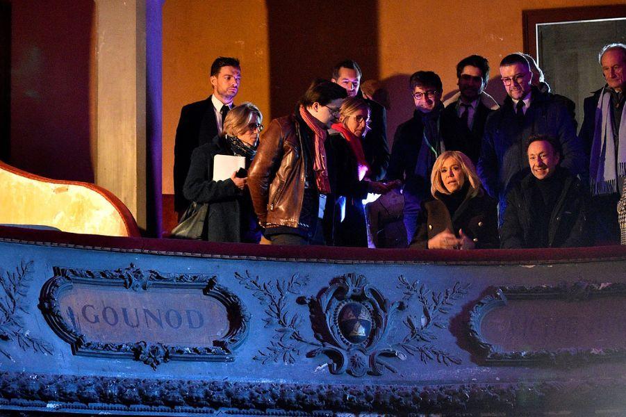 Brigitte Macron et Stéphane Bern vendredi àBar-le-Duc.