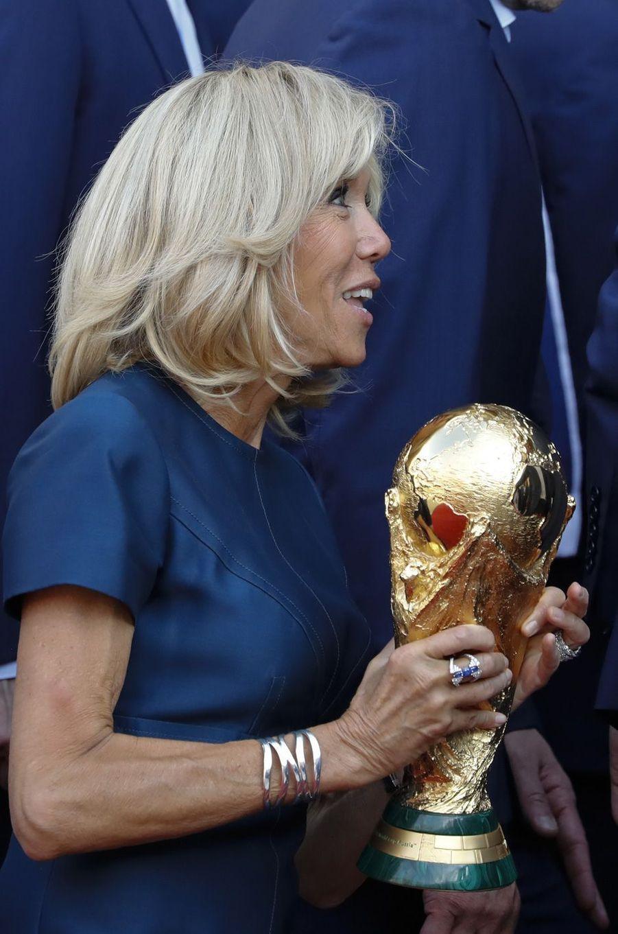 Brigitte Macron et la Coupe du monde.