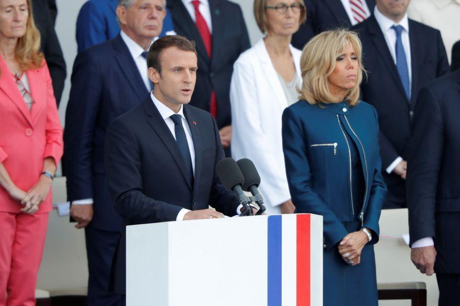 Allocution d'Emmanuel Macron lors du défilé du 14 juillet.