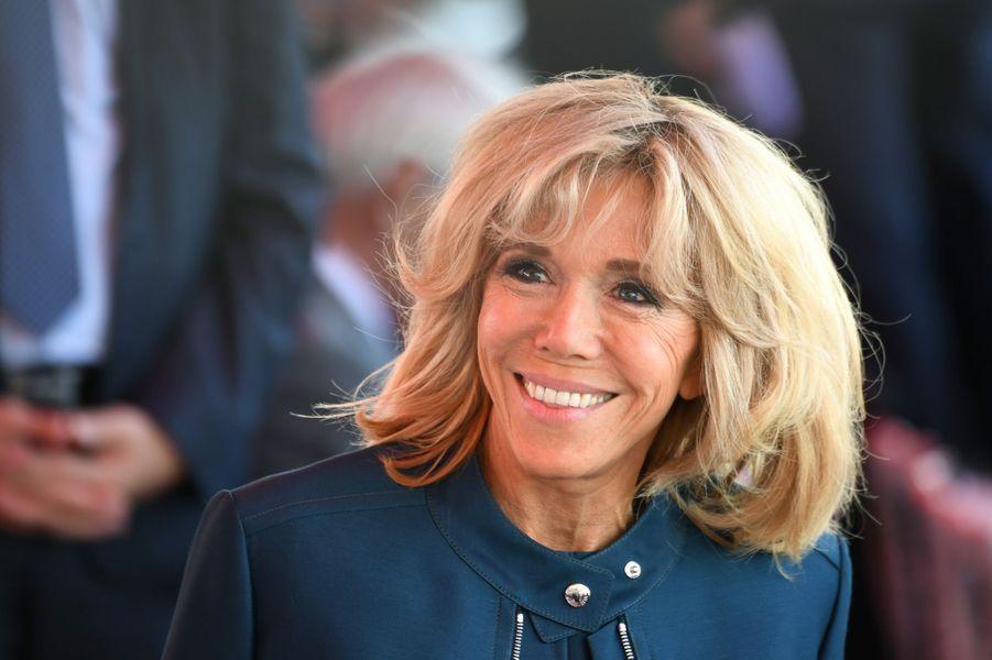 Brigitte Macron lors du défilé du 14 juillet sur les Champs-Elysées.