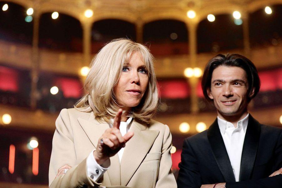 Brigitte Macron et Gautier Capuçon.