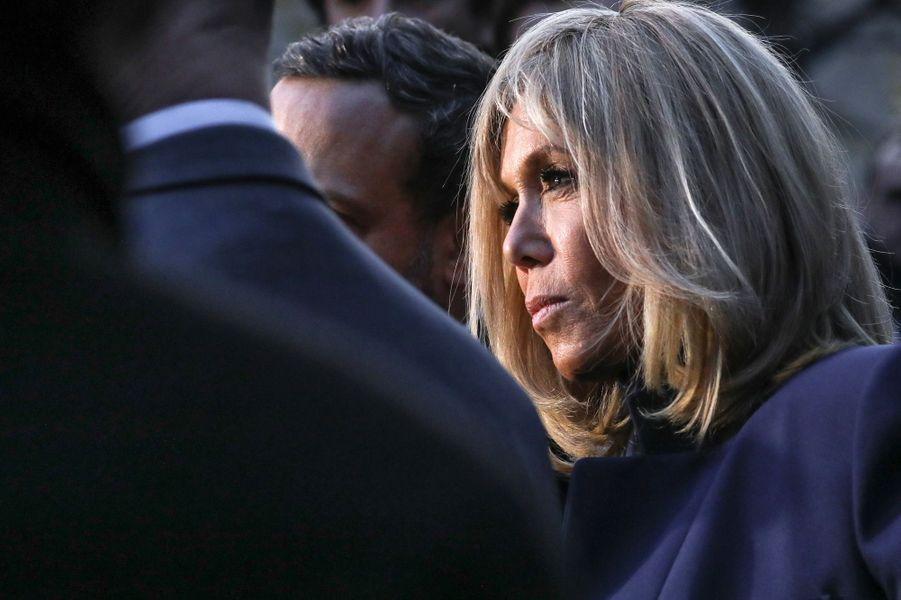 Brigitte Macron au collège Chaptal, à Paris,à l'occasion de la Journée nationale de lutte contre leharcèlementscolaire.