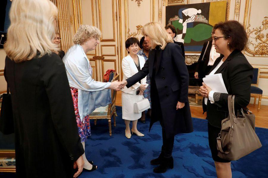 Brigitte Macron rencontre à l'Elysée les lauréates du «Prix international L'Oréal-Unesco pour les femmes et la science».