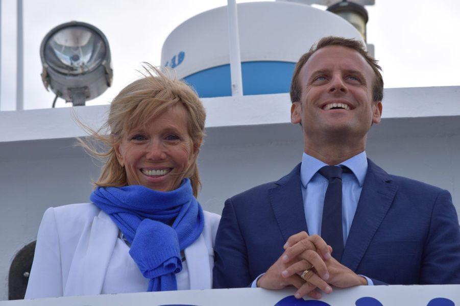 Le couple Macron à La Rochelle le 18 août