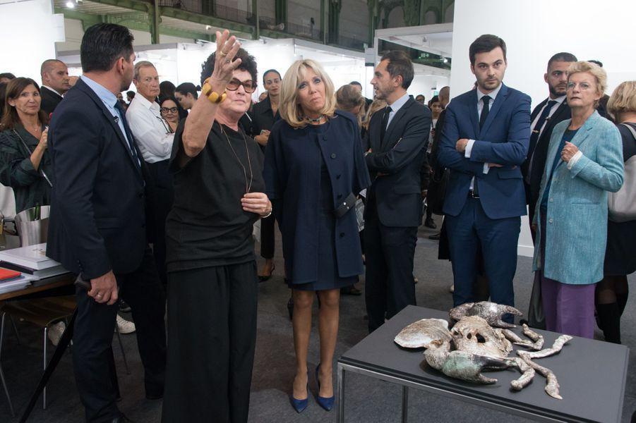 Brigitte Macron, mercredi à la FIAC.