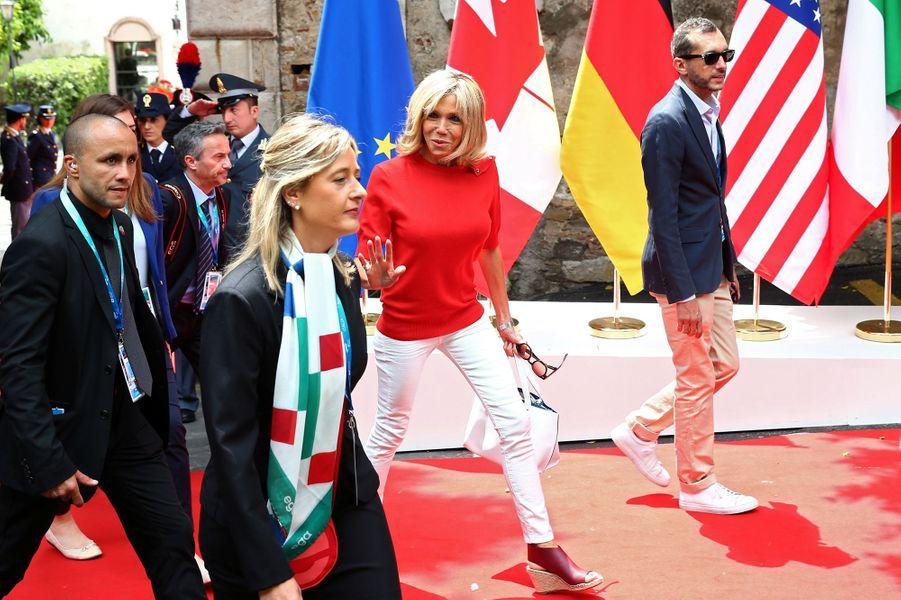 Brigitte Macron au G7 à Taormine.