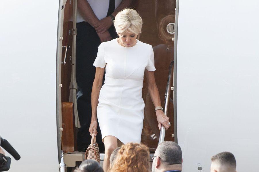 Arrivée de Brigitte Macron au Maroc,le 14 juin 2017.