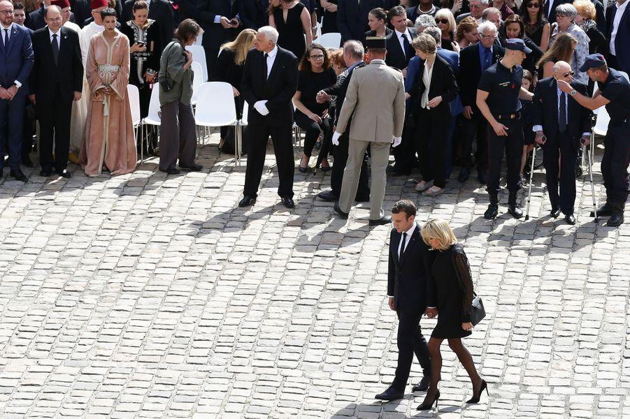 Lors de l'hommage national à Simone Veil, aux Invalides, le 5 juillet.