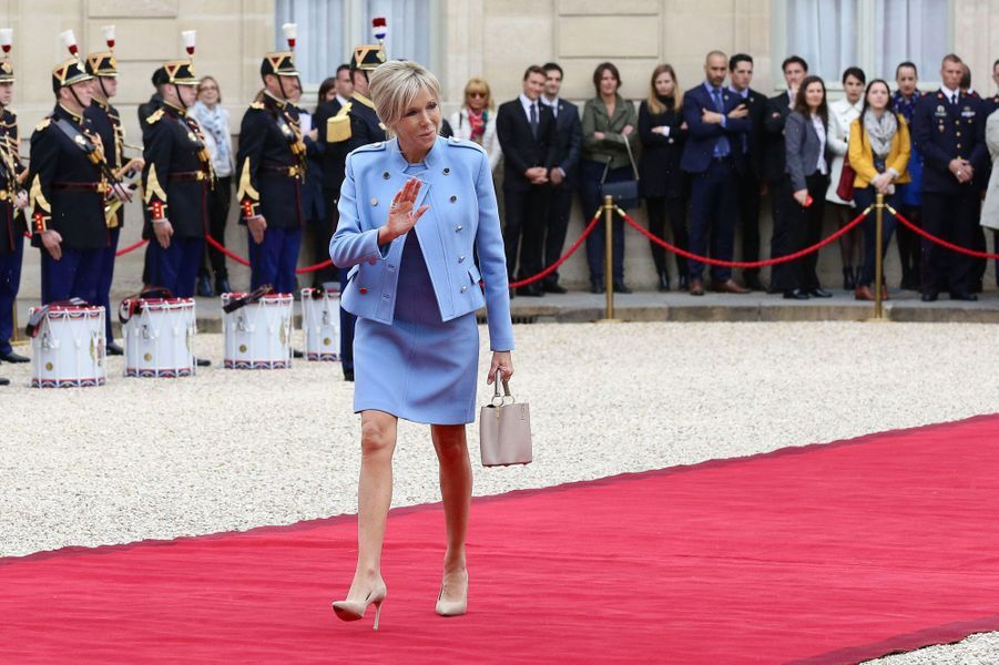 Brigitte Macron, à l'Elysée le 14 mai pour l'investiture d'Emmanuel Macron.